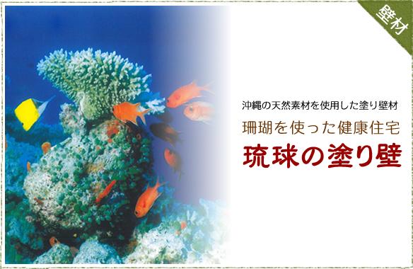 沖縄の天然素材を使用した塗り壁材 珊瑚を使った健康住宅「琉球の塗り壁」