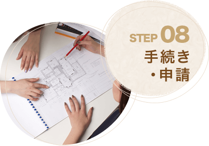 STEP08.手続き・申請